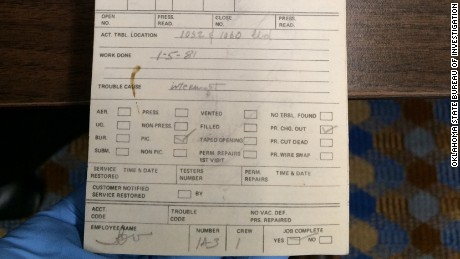 Investigators are hoping to identify the owner of this old cable repair ticket book.