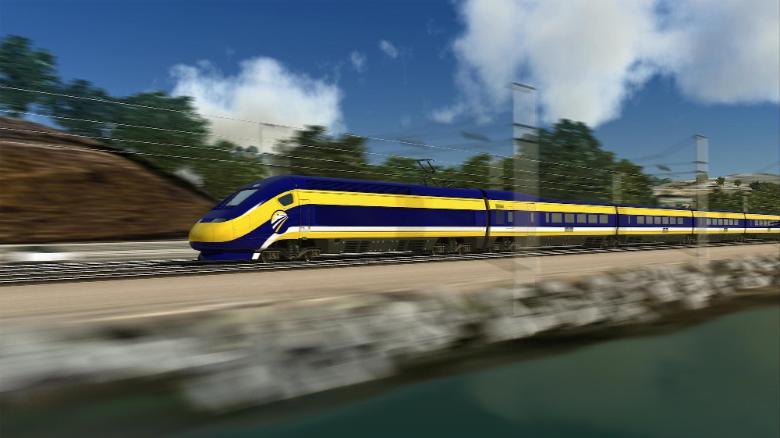 Trump, California governor spar over train funding