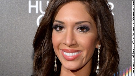 Farrah Abraham in February 2014, before her lip augmentation procedure.