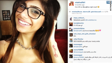 Mia Khalifa poses in a photo posted to her Instagram account.