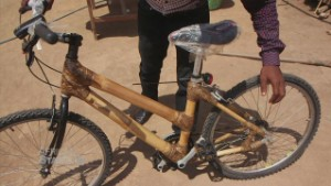 Bamboo bicycles take off in Ghana