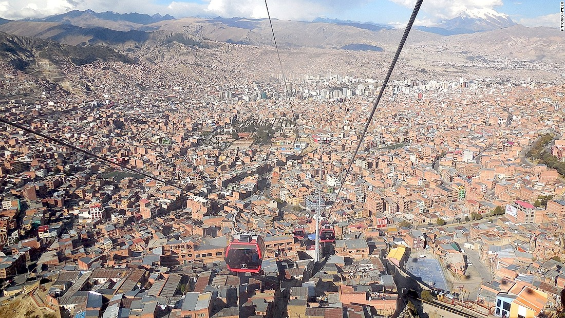 Residents of the Bolivian city of El Alto no longer have to brave the gridlocked road leading to La Paz below. Every hour, 11,000 passengers make the seven-mile journey, paying 44 cents each.