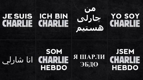Translated versions found on the Charlie Hebdo website.