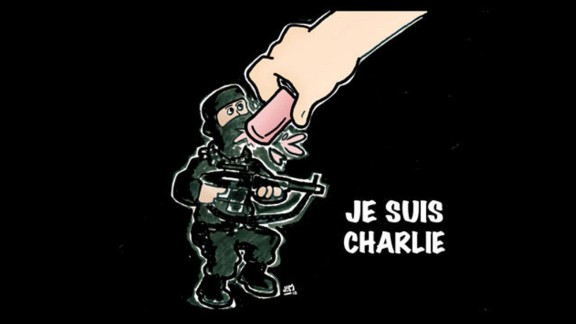 """""""My heart goes out to the people of France. If those who carried out this horrendous act of cowardice truly believe it will prevent the free expression of ideas they are sadly mistaken,"""" cartoonist <a href=""""http://ireport.cnn.com/docs/DOC-1204306"""">Jim Brenneman </a>wrote."""