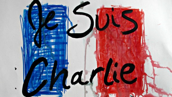 Artists around the world are paying tribute to the victims of Wednesday's attack at satirical magazine Charlie Hebdo, among them four cartoonists. Artist Dylan Ross used markers to create the effect of colors bleeding.