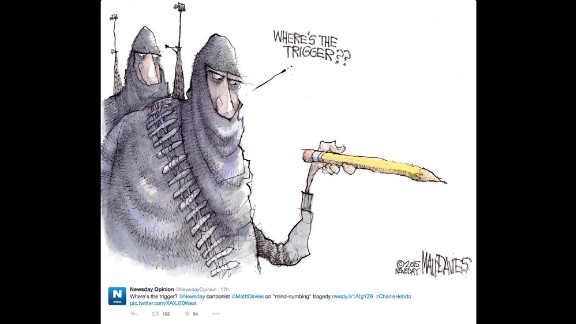 """By Newsday cartoonist <a href=""""https://twitter.com/NewsdayOpinion/status/552961848489046016"""" target=""""_blank"""" target=""""_blank"""">Matt Davies</a>"""