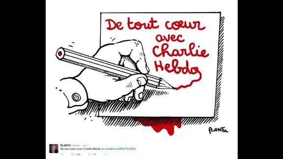 "By French cartoonist <a href=""https://twitter.com/plantu/status/552820642987270144"" target=""_blank"" target=""_blank"">Plantu</a> for Le Monde"