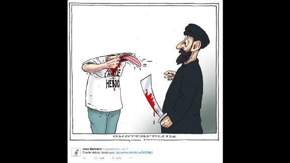 """By cartoonist <a href=""""https://twitter.com/joepbertrams/status/552822895106613248"""" target=""""_blank"""" target=""""_blank"""">Joep Bertrams</a>"""