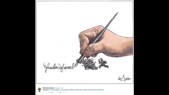 """By political cartoonist <a href=""""https://twitter.com/deAdder/status/552900447326179330"""" target=""""_blank"""" target=""""_blank"""">Michael de Adder</a>"""