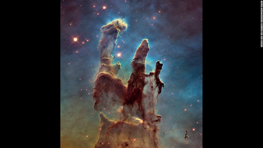 "NASA has captured a stunning new image of the so-called <a href=""http://www.cnn.com/2015/01/06/tech/nasa-pillars-creation/index.html"" target=""_blank"">""Pillars of Creation,""</a> one of the space agency's most iconic discoveries. The giant columns of cold gas, in a small region of the Eagle Nebula, were popularized by a similar image taken by the Hubble Space Telescope in 1995. <a href=""http://www.cnn.com/2014/01/10/tech/gallery/wonders-of-the-universe/index.html"" target=""_blank"">See other wonders of the universe</a>"