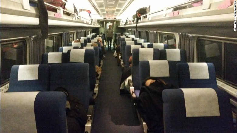 Amtrak Says Passengers Had The Option Of Waiting On The Train Or In The  Station.
