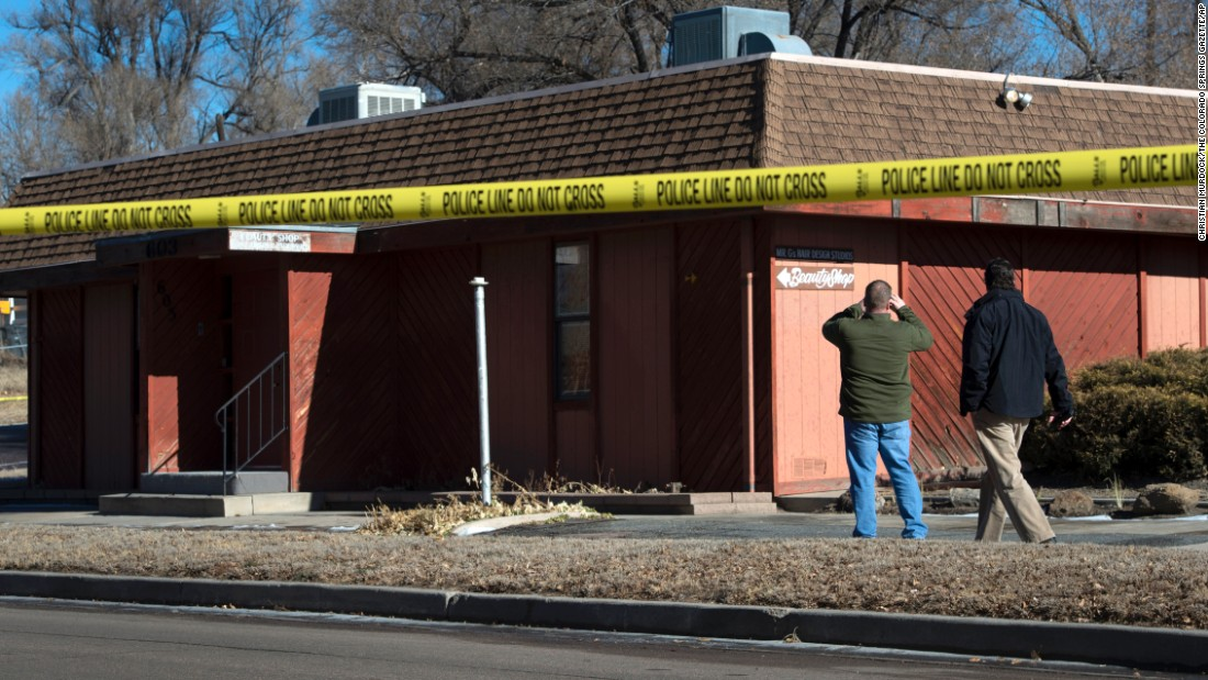 "Police officers in Colorado Springs, Colorado, investigate <a href=""http://www.cnn.com/2015/01/07/us/naacp-office-explosion/index.html"" target=""_blank"">the scene of an explosion</a> Tuesday, January 6, outside a local chapter of the NAACP. A makeshift bomb, or improvised explosive device, detonated but failed to ignite a gasoline can placed alongside it. No one was injured, but the incident left some shaken. The NAACP is the nation's oldest civil rights organization."