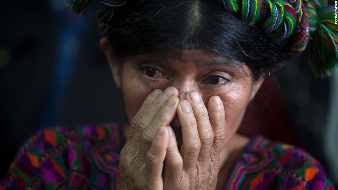 "An Ixil Mayan woman in Guatemala City, Guatemala, attends <a href=""http://www.cnn.com/2015/01/06/americas/guatemala-genocide-trial/index.html"" target=""_blank"">the genocide trial of former dictator Jose Efrain Rios Montt</a> on Monday, January 5. Montt is accused of allowing the massacre of more than 1,700 indigenous Ixil Mayans in the early 1980s. He was convicted in May 2013, but the verdict was overturned 10 days later on procedural grounds."