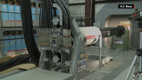 An image from the US Navy showing some of the railgun tech in development.