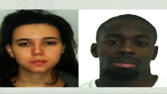 Images of Hayat Boumeddiene and Amedy Coulibaly released by police in Paris.