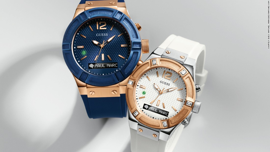 Guess Connect is the new wearable tech timepiece from Guess, in partnership with watch developer Martian Watches. Based on Guess's best-selling style, Rigor, this smartwatch is powered by Martian technology that is updateable and compatible with both iOS and Android