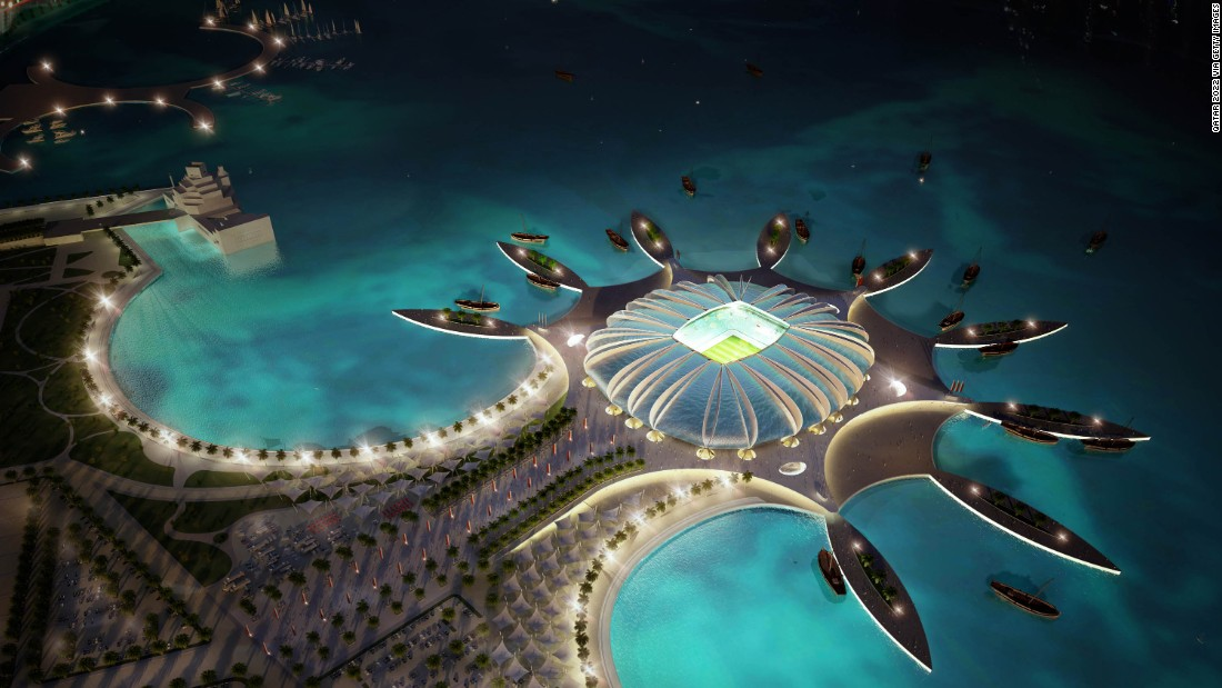 An artist's impression for Qatar's flagship Doha Port stadium prior to the World Cup bid in 2010.
