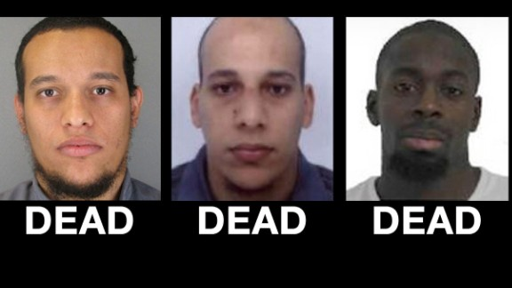 Three suspects dead, one sought