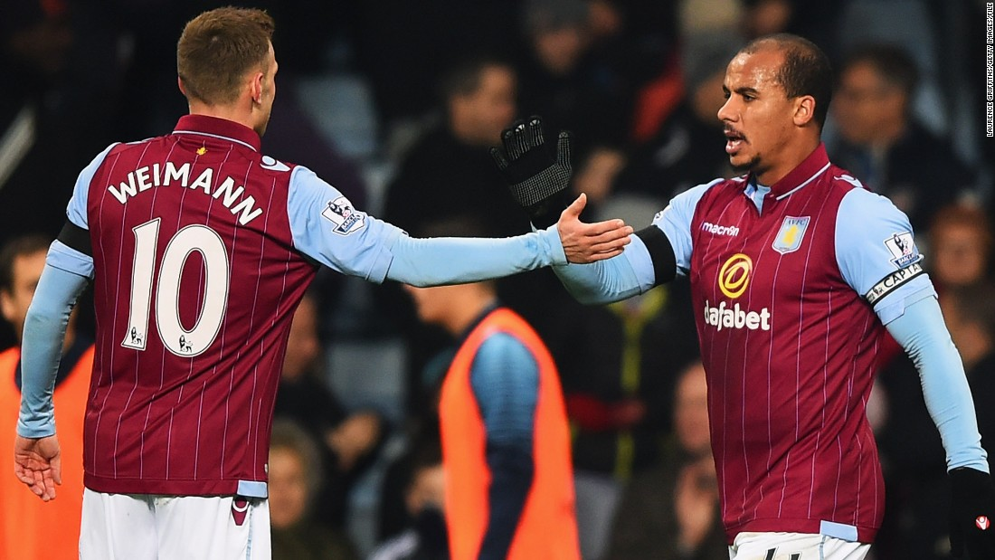 Villa's joint highest goalscorers are Andreas Weimann (left) and Gabriel Agbonlahor (right) with three goals. Austria's Weimann has gone two months without finding the net in the Premier League.