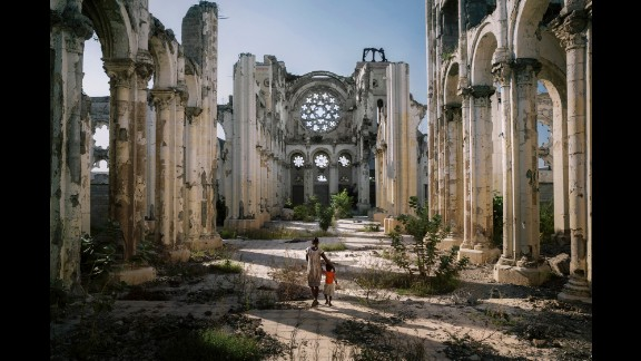 A cathedral's remains in Port-au-Prince.
