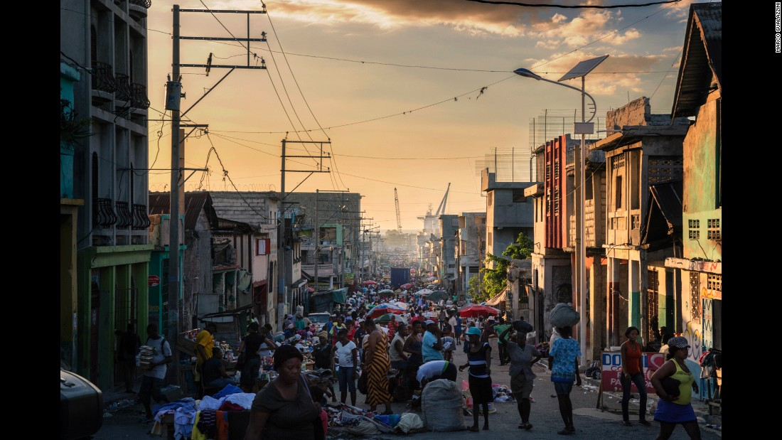 The markets in Haiti are a sign of rebirth and a return to normality, Gualazzini said.