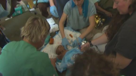 Baby buried in Haiti quake