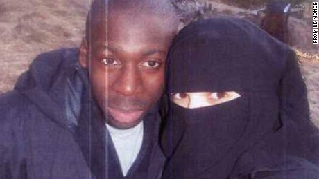 A series of photographs from 2010 appear to show Paris shooting suspects Amedy Coulibaly and Hayat Boumeddiene. CNN has not independently confirmed the authenticity of theses images. They were published by French newspaper Le Monde.