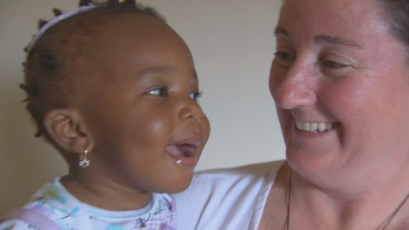 Baby Jenny one year after the Haiti earthquake.