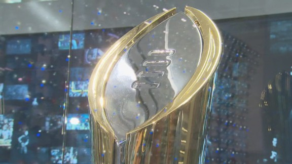 The College Football Playoff trophy