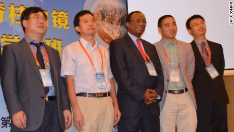 2014: Said Osman lectures at a spinal conference in Chongqing, China.