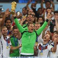 neuer lifts world cup trophy germany