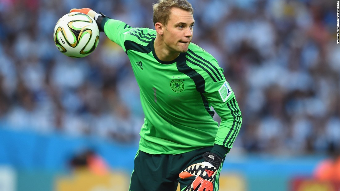 Manuel Neuer has been a formidable presence in goal for Germany conceding just four goals in seven World Cup Finals matches and a total of 40 goals in 62 matches throughout 2014.