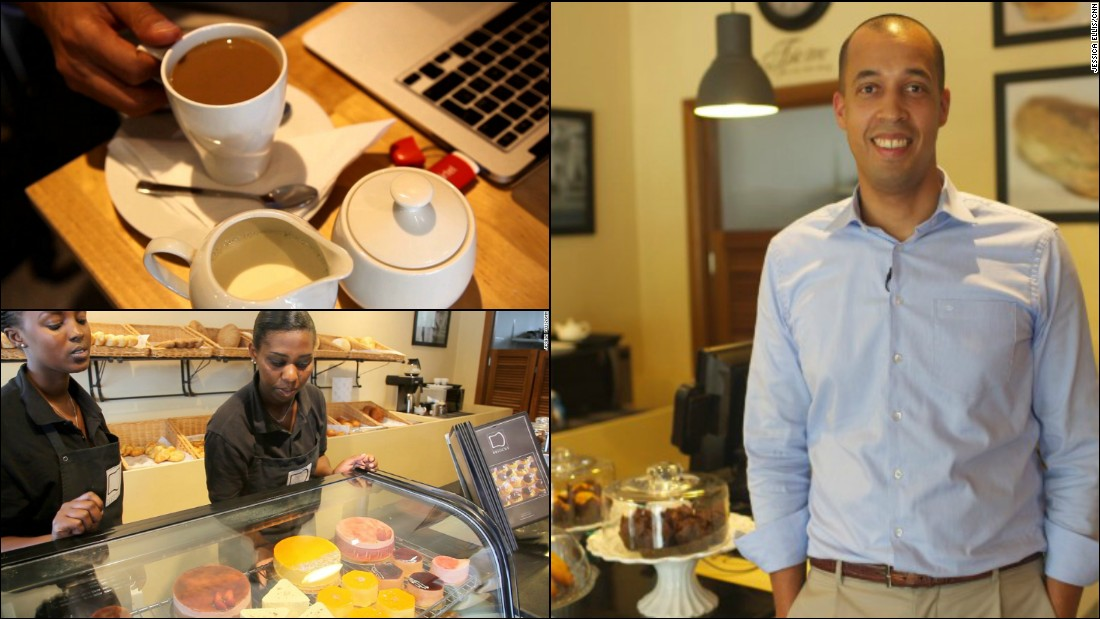"Rwandan businessman Jean-Philippe Kayobotsi, 39, opened his boutique bakery, <a href=""https://twitter.com/briocherw"" target=""_blank"">Brioche</a>, in 2013. Last year the company grew as Kayobotsi bought two further store locations in the country's capital Kigali and his dreams remain big for 2015.<br /><br />""Brioche's resolutions include to bring more treats, happiness and pride to more people in Africa by growing our network of point of sales in Rwanda and the region,"" says Kayobotsi, whose ultimate goal with the company is to ""create a different Africa.""<br /><br /><a href=""http://edition.cnn.com/2014/02/13/business/sweet-success-how-entrepreneur-swapped-business/"" target=""_blank"">Read: Entrepreneur swaps business suits to launch 'Starbucks of Africa'.</a>"