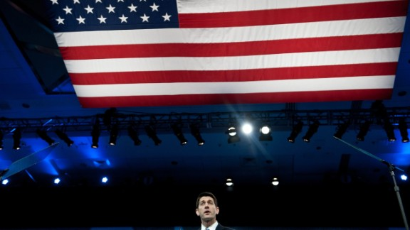 Ryan speaks at the Conservative Political Action Conference in National Harbor, Maryland, on March 15, 2013.