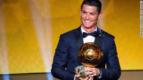 Cristiano Ronaldo wins 2014 Ballon d'Or