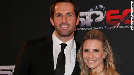 Ben Ainslie was on honeymoon with his wife Georgie Thompson in the Caribbean when his boat hit trouble.