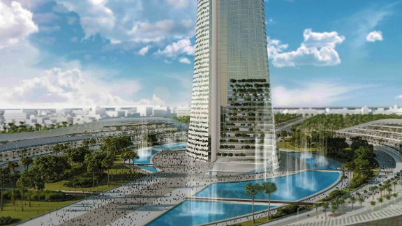The building will have 114-stories and rise 540 meters skywards -- a reference to Africa's 54 nations.