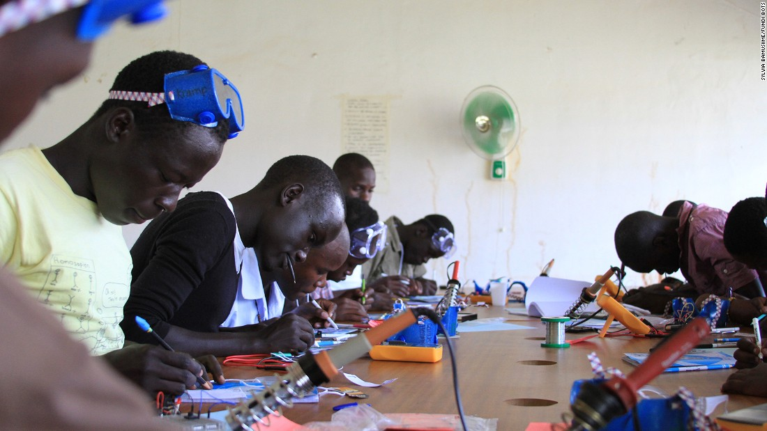 Fundi Bots is active in 15 schools across Uganda and some robotics classes are attended by as many as 50 students.