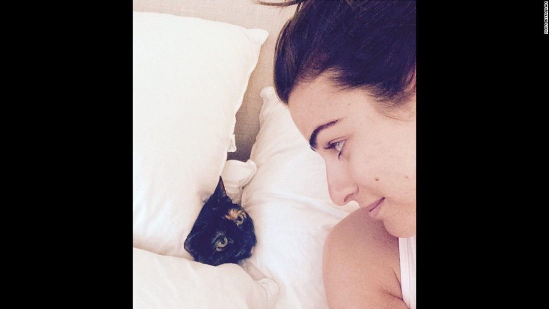 "Actress Lea Michele and a cat look at each other in this selfie <a href=""http://instagram.com/p/xj8KgwCD-Z/?modal=true"" target=""_blank"">she posted to Instagram</a> on Wednesday, January 7. <a href=""http://www.cnn.com/2015/01/07/living/gallery/look-at-me-selfies-0107/index.html"" target=""_blank"">See 21 selfies from last week</a>"