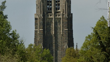 Duke University Chapel, in the center of west campus is shown April 11, 2006 in Durham, North Carolina.