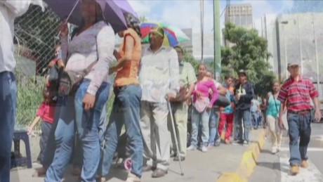 Grocery shortages spark protests in Venezuela