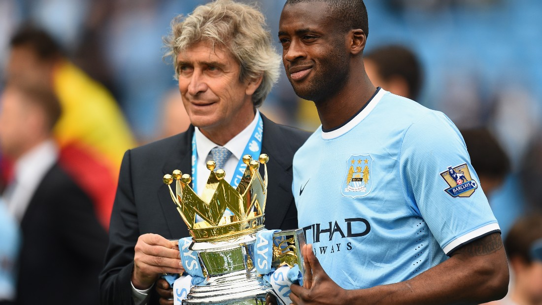 Pellegrini led City to the Premier League title in his first year in charge. City won the league by two points from Liverpool.