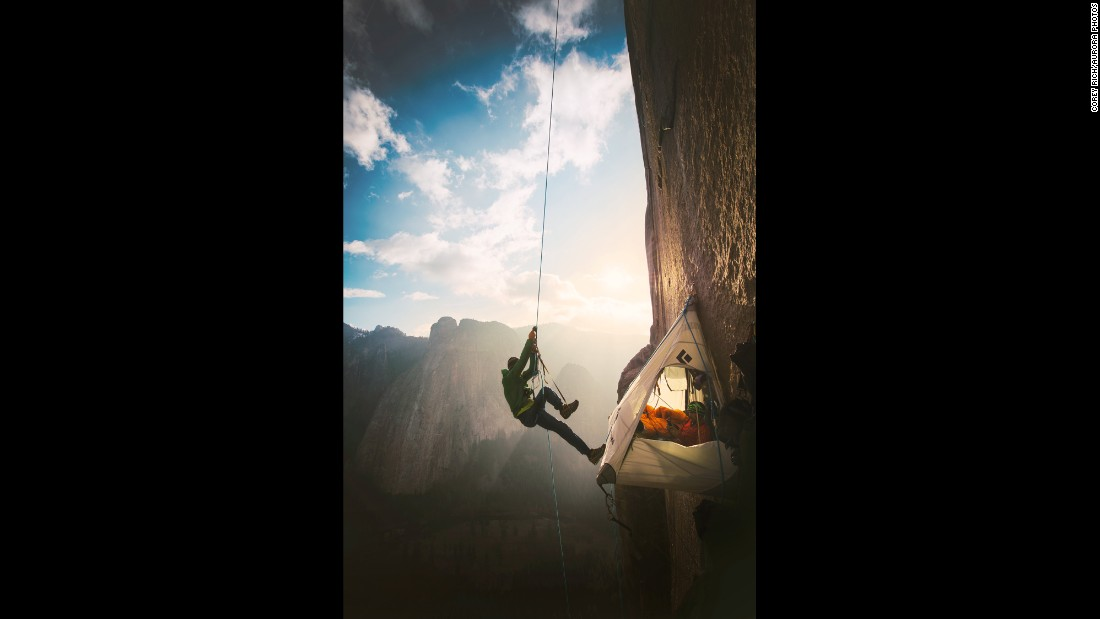 Caldwell climbs on Sunday, January 11. He had already completed five other routes on El Capitan, but family members said the Dawn Wall route consumed him.