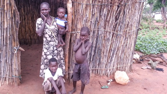 """<br />""""This refugee family in Ajuong Thok is worried. They are thinking about the people that they left behind in the Nuba Mountains. Life in Ajuong Thok is very difficult for single mothers. If she needs to go to collect firewood or water, who will look after her child?"""""""