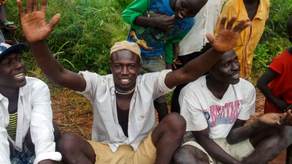 """<br />""""I left the Nuba Mountains because of the war in '83. At that time, we left in a group of 57 people. Only nine of us survived the journey. I was the youngest, only seven years old. <br />One day, my father was very sick and he began to tell me the names of all of my uncles. When he finished he died. I stayed for seven more years until the people signed a peace agreement, which was in 2005. <br />I said to myself, let me see what will happen. After six years I prepared to go back to my homeland, but when I was about to start my journey the war broke out. I thought, 'I'll never see my family. I will die as my father died.' <br />Then people began to arrive from the Nuba Mountains to the camp. The first person I spoke to turned out to be my uncle. It was the best moment of my life. This is why I am happy. Because I have found my relatives.""""<br /><em>Khalid Idriss, refugee since 1985</em>"""