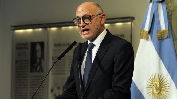 "Argentine Foreign Minister Hector Timerman says allegations of a cover-up are ""baseless."""