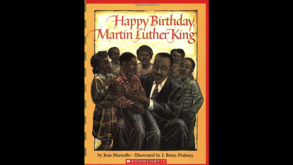 """""""Happy Birthday, Martin Luther King Jr.,"""" written by Jean Marzollo and illustrated by J. Brian Pinkney, celebrates the life of the civil rights leader."""