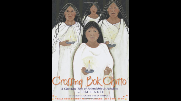 """""""Crossing Bok Chitto: A Choctaw Tale of Friendship and Freedom,"""" written by Tim Tingle and illustrated by Jeanne Rorex Bridges, follows the friendship of a Choctaw girl and an enslaved African-American boy."""