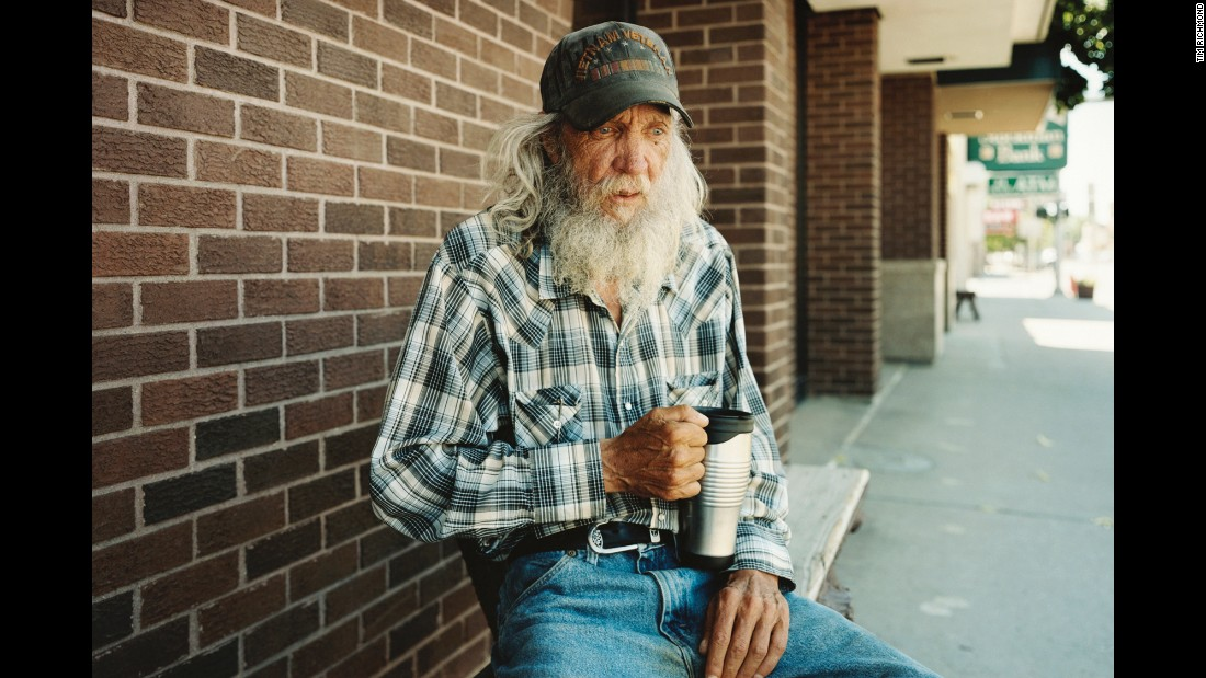 "A man sits on a bench in Miles City, Montana. English photographer Tim Richmond photographed people and places in remote cities of the American West for his latest photography project, <a href=""http://www.timrichmond.co.uk/last-best-hiding-place/"" target=""_blank"">""Last Best Hiding Place.""</a>"