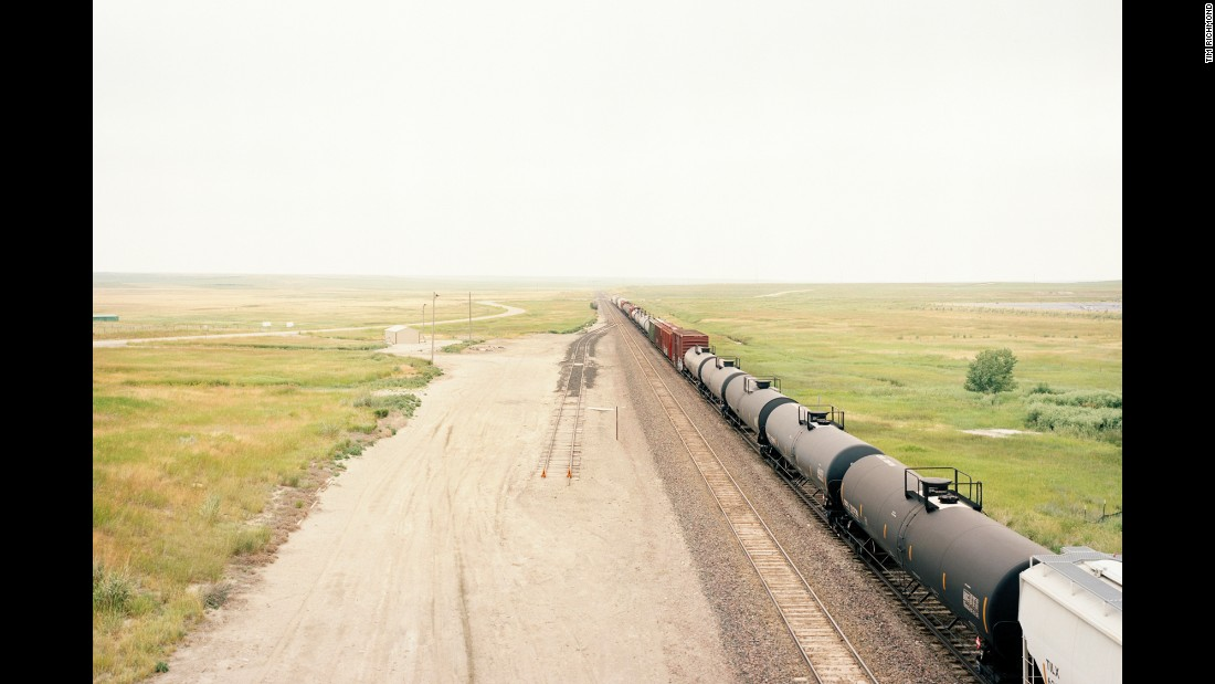 A train passes through Judith Gap, Montana.